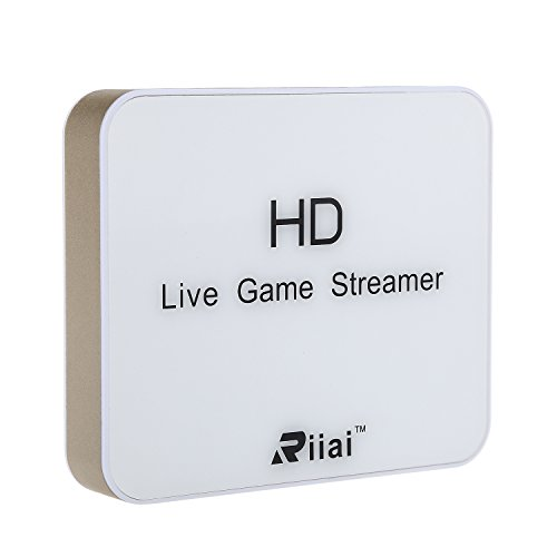 RIIAI 930 Dual HDMI 1080P HD Game Capture Card Live Streamer Box Recorder For Xbox 360 Xbox One PS3 PS4 WiFi PC Support OBS VLC Amcap XSplit (Game Capture Cards)