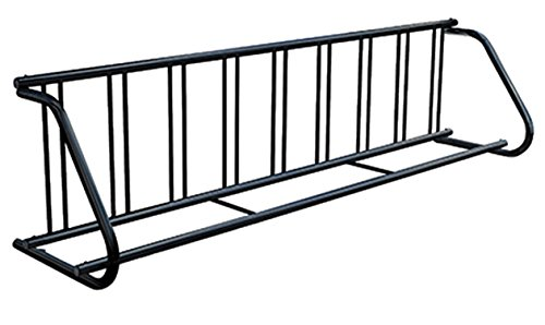 Kirby Built Products Powder-Coated Steel Traditional Bike Rack - Single-Sided - Fits 9 Bikes - Black -