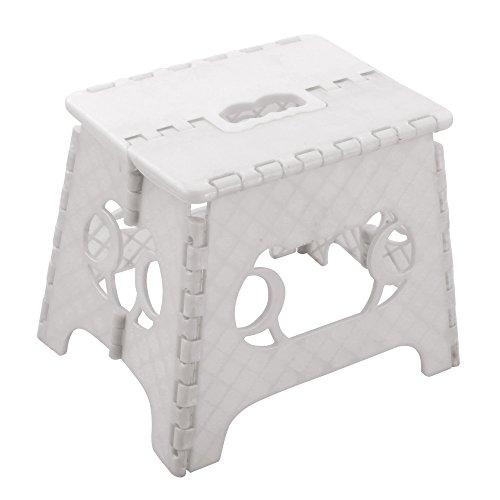 Klapphocker Sitzhocker Klappstuhl Tritthilfe Schemel Fußbank Hocker Faltbar Weiß