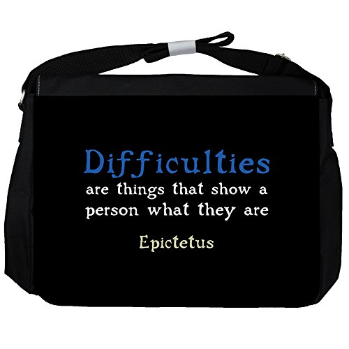 Difficulties are things - Epictetus Unisex Umhängetasche