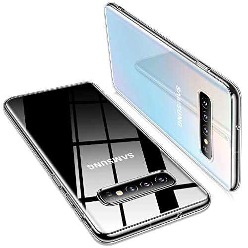 TORRAS Crystal Clear Galaxy S10 Case, [Anti-Yellow] Ultra Thin Slim Fit Soft Silicone TPU Cover Phone Case for Samsung Galaxy S10, Clear
