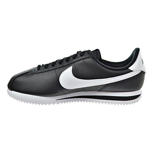 Amazon.com | Nike Cortez Basic Leather Men's Shoes Black/White/Metallic  Silver 819719-012 | Running