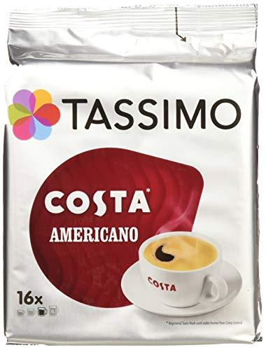 TASSIMO Costa Americano 16 T DISCs (Pack of 5, Total 80 T DISCs) (16 Tassimo T-discs)