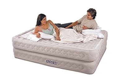New INTEX Supreme Air-Flow Queen Air Bed Mattress & Pump