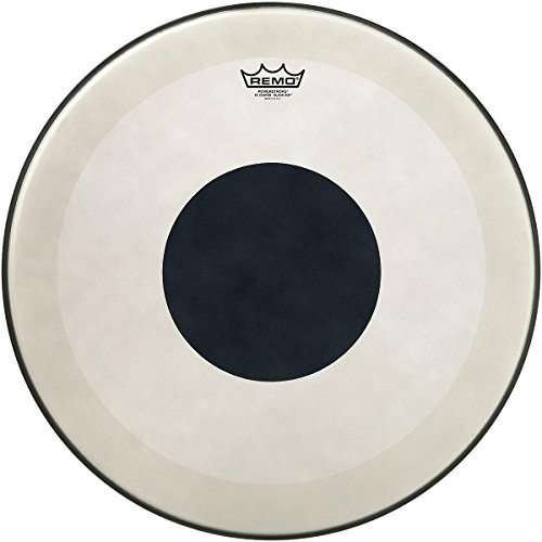 Remo Powerstroke 3 Coated Bass Drum Head with Black Dot 22 in. - Remo Powerstroke 3 Black Resonant