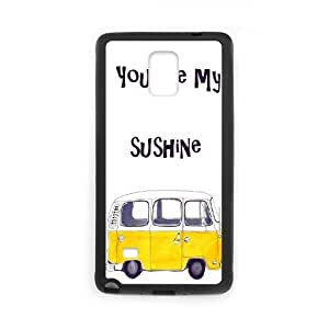 HQYDIY Custom You are my sunshine Plastic Case, DIY You are my sunshine Hard Cell Phone Case for samsung galaxy note4