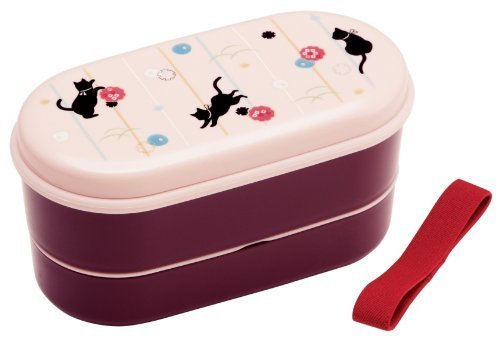 Skater lunch box chopsticks belt with 630ml Japanese style cat SX2 by lunch box by