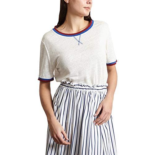 Tiago Linen T-Shirt Summer Collection Women Off White