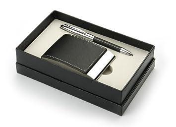 Geschenk Set Visitenkartenetui Kugelschreiber Amazon De