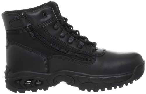 Ridge Footwear Hommes Mi-glissière Zip St Travail Boot Noir