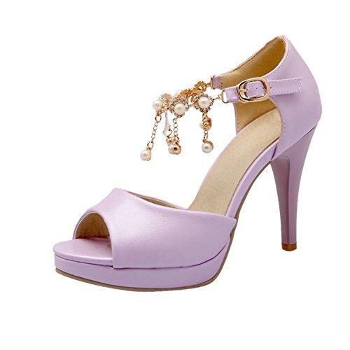 Mee Shoes high heels peep toe Plateau Sandalen Lila