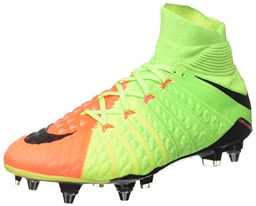 Nike Men Hypervenom Phantom III Sg-Pro Football Boots Green (Electric Green/Black/Hyper Orange/Volt)