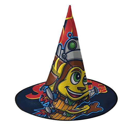Ratchet And Clank Halloween Costume (Super Space Bros Ratchet And Clank Witch Hat Halloween Unisex Costume For Holiday Halloween Christmas Carnivals)