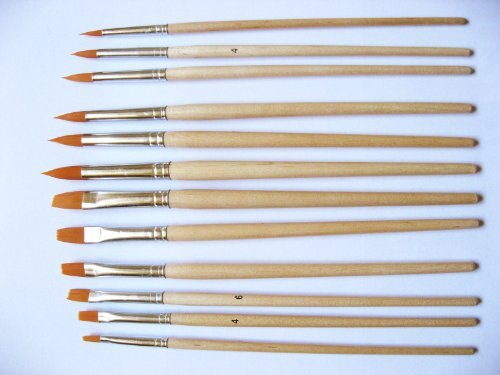 Grace Art Water Color Brush Set WS12 by Grace Art (Watercolor Art Brush)