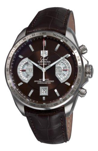(TAG Heuer Men's CAV511E.FC6231 Grand Carrera Chronograph Calibre 17 RS Brown Dial Watch)
