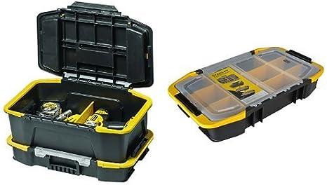 Stanley STST1-71962 - Combinación de caja para herramientas y organizador, color negro + STST1-71983 - Organizador para caja de herramientas: Amazon.es: Bricolaje y herramientas