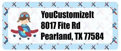 Airplane Theme Return Address Label (Personalized)