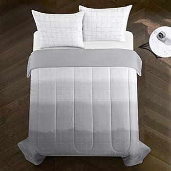 Geneva Home Fashion Bergen Ombre Comforter Set Queen Grey