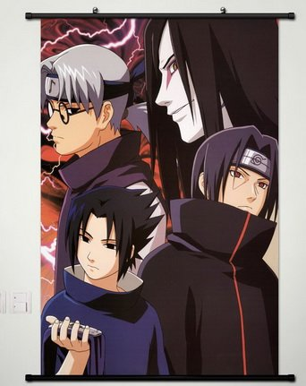 Naruto Wall Scroll Poster Fabric Painting For Anime Uchiha I