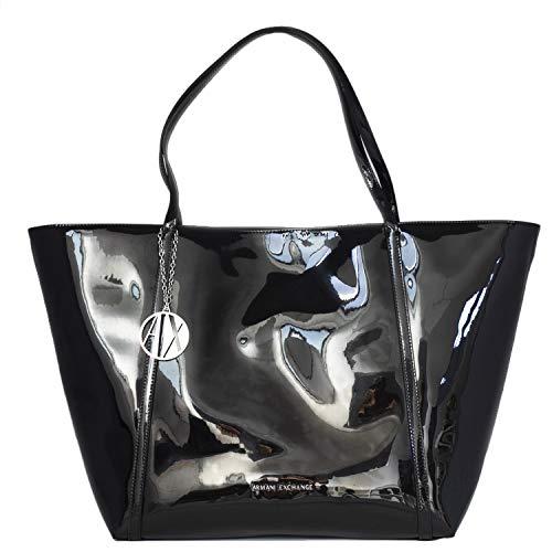 Polyester Women's 942268CC713BLACK Black Tote Exchange Armani ZCqfwIC