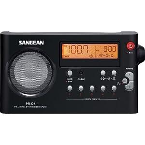 Sangean PR-D7 BK AM/FM Digital Rechargeable Portable Radio - Black Color: Black, Model: PR-D7 BK, Electronics & Accessories Store