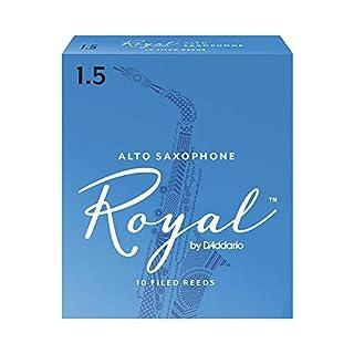 Royal Alto Sax Reeds, Strength 1.5, 10-pack