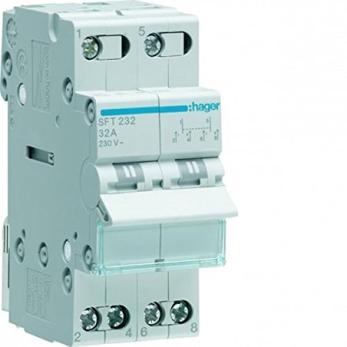 Hager/ /Interrupteur modulaire 2/p/ôles 40/A commun Haut i-0-ii