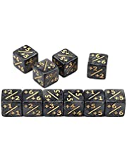 Kuyoly 10 stks dobbelstenen tellers 5 positief+1/+1 5 Negatieve -1/-1 Voor Magic Verzamelen Tafelspel Grappige Dobbelstenen Game Dice
