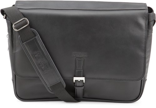 Leather Expandable Messenger - Kenneth Cole  524985 Expandable Computer Compatible Messenger Bag,Black,One Size
