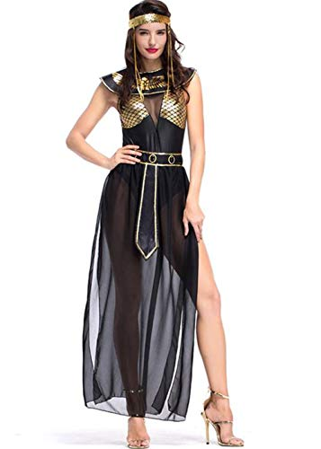 Women's Athena Greek Goddess Costume Cleopatra Costume, Egyptian Queen Costume for Halloween Cosplay (XL) -