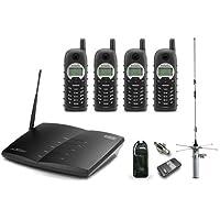 EnGenius Technologies DURAFONPRO-PIB20L 900 MHz Radio Frequency, 90-Handset 4-Line Landline Telephone