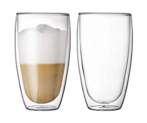 Bodum Pavina 15-Ounce Double-Wall Thermo Large Glass, Set of 2