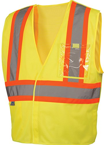 Pyramex Lumen X Class 2 Safety Vest with 5 Point Breakaway, Hi-Vis Lime, 5X-Large ()