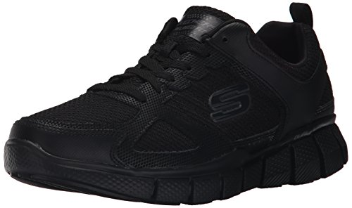 Skechers Sport Men's Equalizer 2.0 True Balance Sneaker,All Black,10 M (Black Men Sneakers)