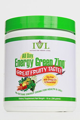Institute for Vibrant Living All Day Energy Green Zing TM (Soy-free) - 1 Month Supply (All Day Energy Greens Ivl compare prices)