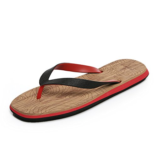 Dans le champ De dans lété et les chaussures de plage décontracté cool de chaussons hommes et 41 Red