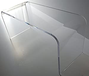 Acrylic Coffee Waterfall Table Lucite 44
