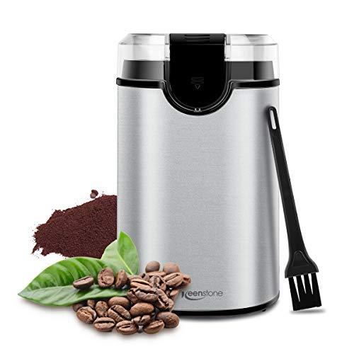 Coffee Grinder, Keenstone Electric Coffee Bean Grinder Stainless Steel Spice Mill Grinder (Manual Grinder)