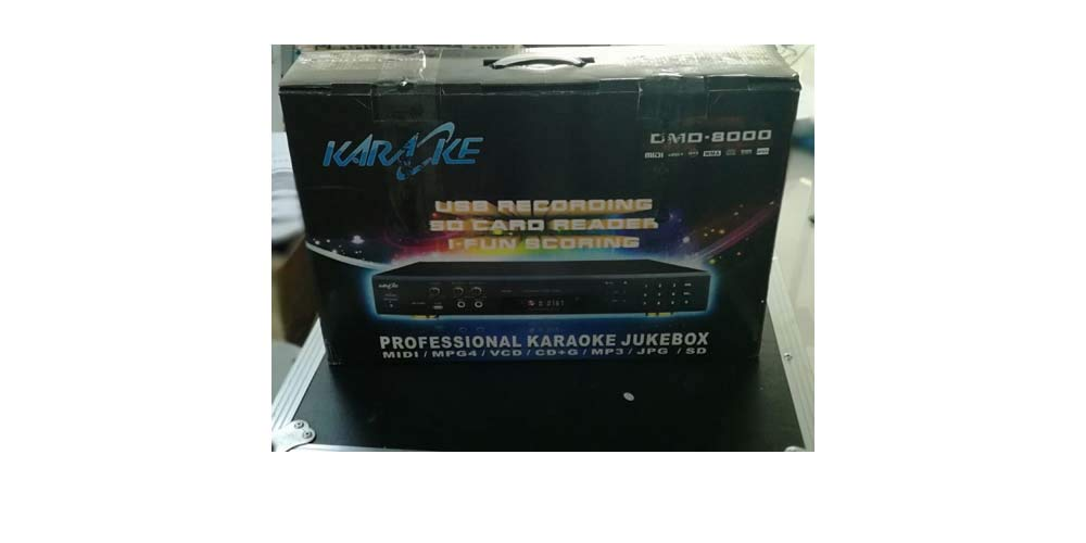 Naphon Karaoke Player Professional MIDI Karaoke Machine DMD8000 with Scoring System and USB Memory Record Function