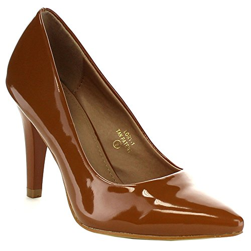 Bella Marie Lory-1 Dames Spitse Neus Oversluitend Op Office Dress Pumps, Kleur: Zwart, Maat: 6