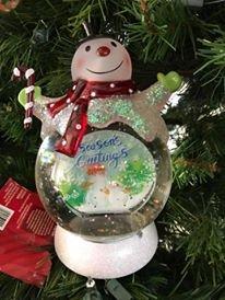 Snowglobe Decoration - Snowman Christmas Snowglobe with Lights Decoration Keepsake