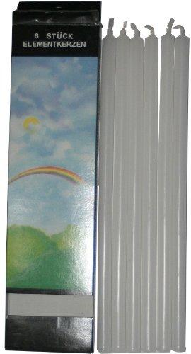 Biedermann & Sons elegante elementos 10-pulgadas Straight velas, Sin fragancia, Blanco