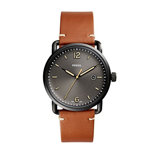 Amazon.com: Fossil Mens FS5276 The Commuter Three-Hand Date ...