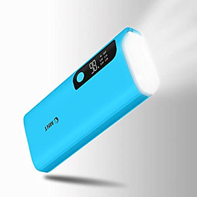 Power Bank,Emnt 15600mAh High Capacity Fast Charging Dual USB Port Portable Charger With LED Flash Light, LCD Digital Screen Smart External Battery Pack for Iphone,Samsung,Camera,Tablets and More