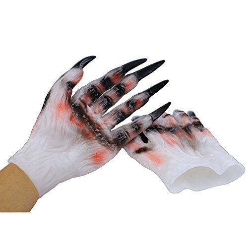 Devil Halloween Costumes Images (HOMEE the Devil Nail Finger Kit Halloween Costumes and Props Demon Gloves Vampire Gloves Masquerade Supplies, Devil Gloves,The Demon Gloves)