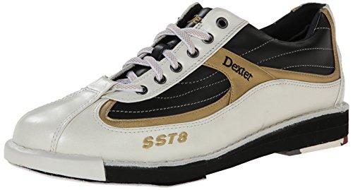Dexter Dexter  SST 8 - Calzado de bolos para hombre blanco (white/black/gold)