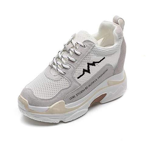 Neue Leichte weiße Schuhe Schuhe Casual Größe Turnschuhe Unsichtbare Kleine Womens Erhöhung Mesh Frühling Untere C Dicke Academy C Herbst 35 Sohlen Farbe zZdgxWqv