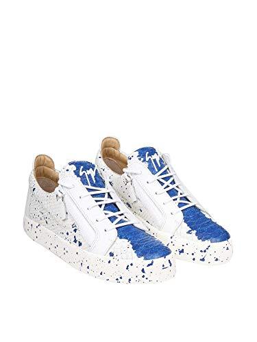 Hombre Giuseppe Design Zanotti Blanco Cuero Rm90004002 Zapatillas vvAqOwE