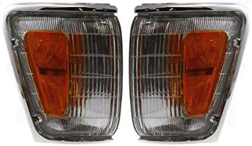 Corner Light Compatible with 1990-1991 Toyota 4Runner and 1989-1991 Pickup Plastic Clear /& Amber Lens With bulb Driver Side