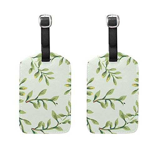 HangWang Set of 2 Luggage Tags Tropical Plants Suitcase Labe